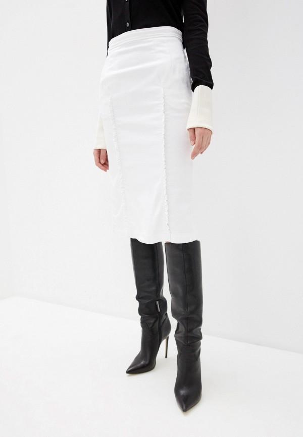 женская джинсовые юбка n21, белая