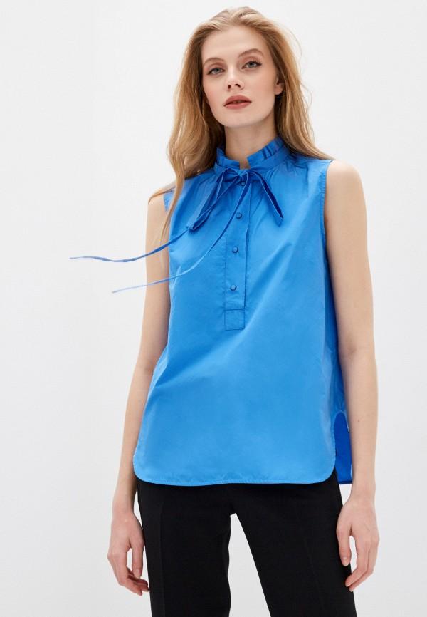 женская блузка n21, синяя