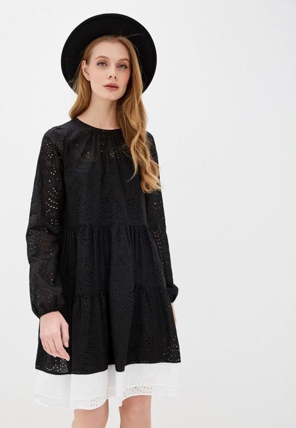 женское повседневные платье n21, черное