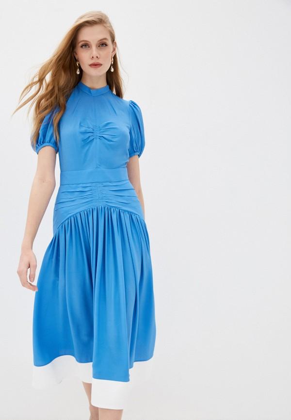 женское повседневные платье n21, голубое