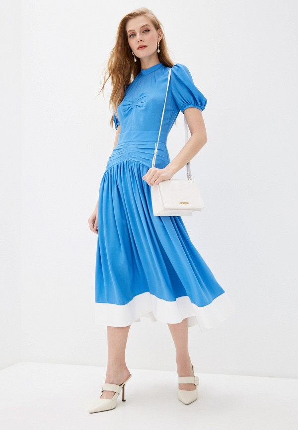 Платье N21, цвет голубой, размер 42 N2MH201. Цена: 39900 р. Коллекция: Весна-лето 2020, Пол: women, Страна-изготовитель: Италия - фото 2