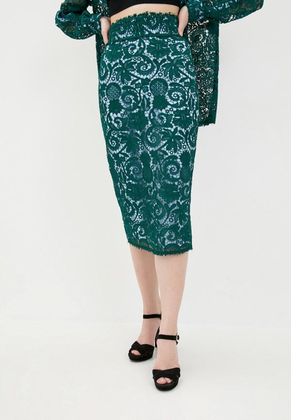 женская зауженные юбка n21, зеленая