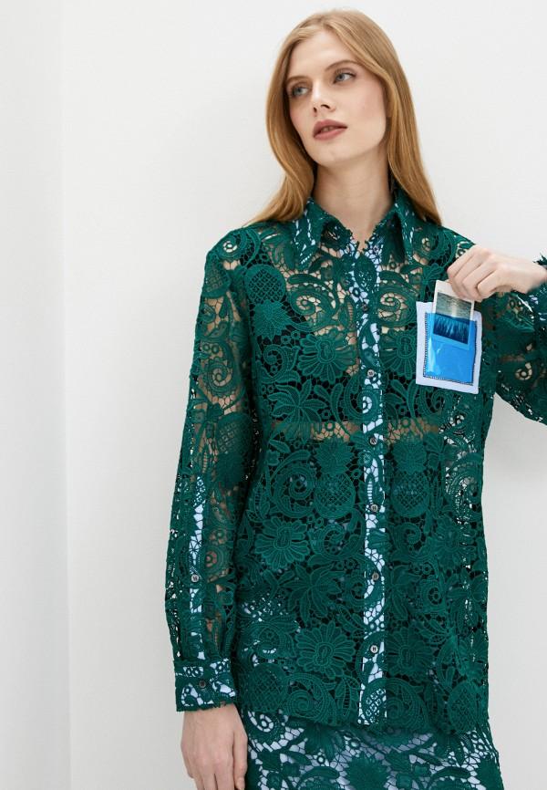 женская блузка n21, зеленая