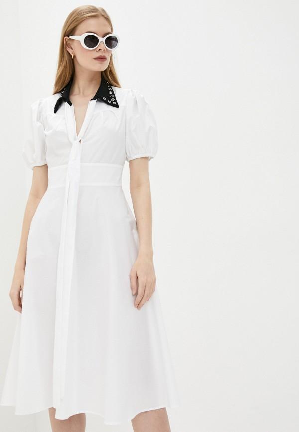женское повседневные платье n21, белое