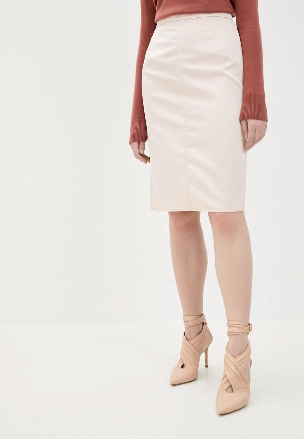 женская прямые юбка n21, розовая