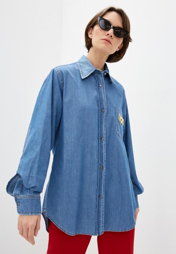 женская джинсовые рубашка n21, голубая
