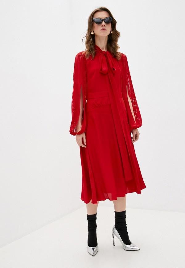женское повседневные платье n21, красное