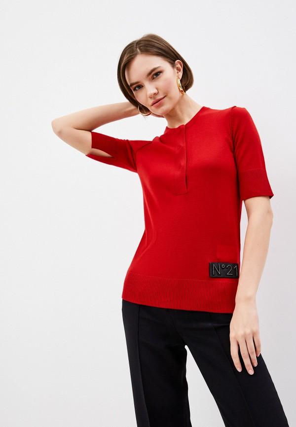 женский джемпер n21, красный