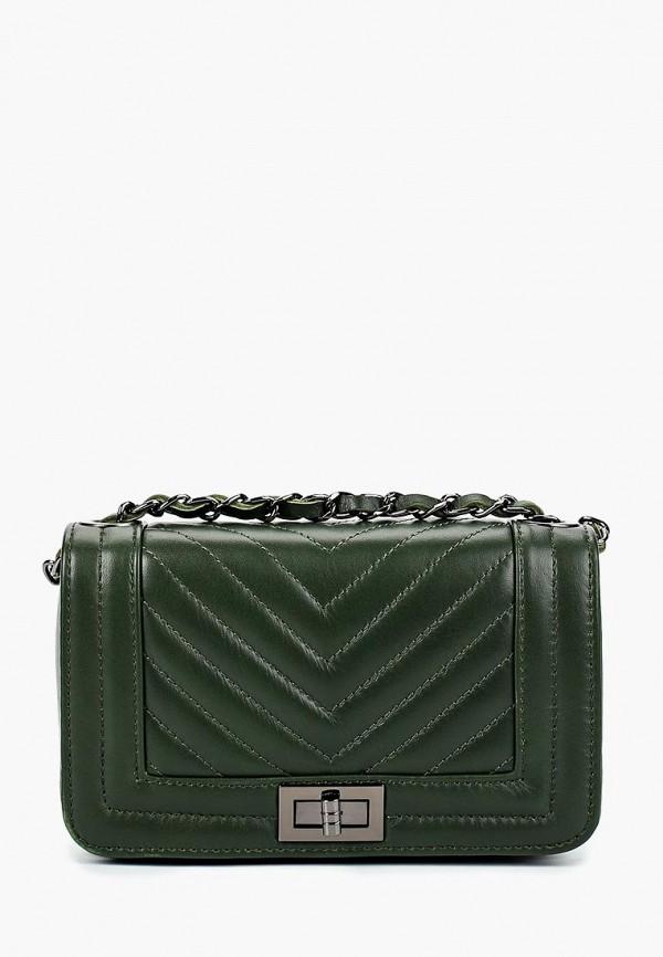 Купить женскую сумку Nano de la Rosa зеленого цвета