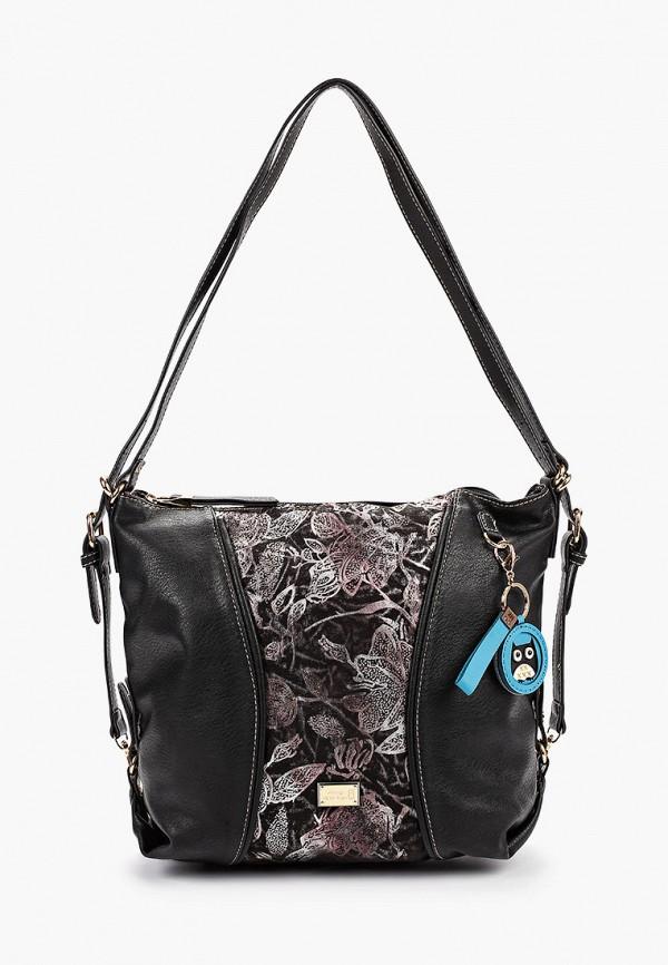 женская сумка nano de la rosa, черная