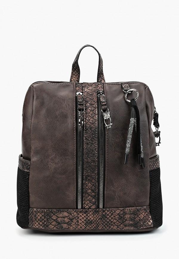 женский рюкзак nano de la rosa, коричневый