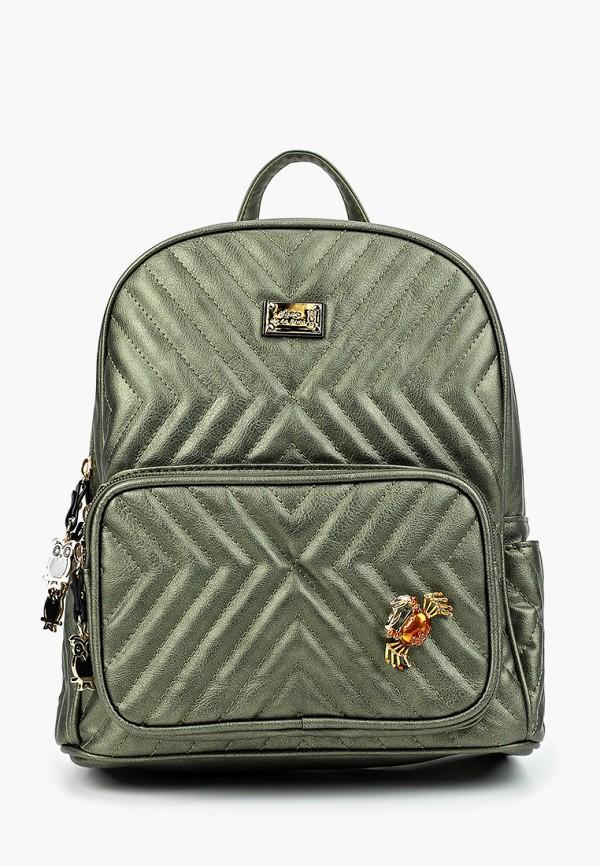 женский рюкзак nano de la rosa, зеленый