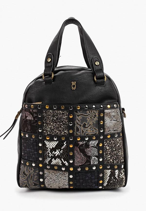 женский рюкзак nano de la rosa, черный