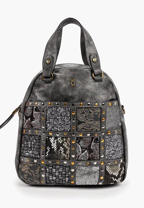 женский рюкзак nano de la rosa, серый