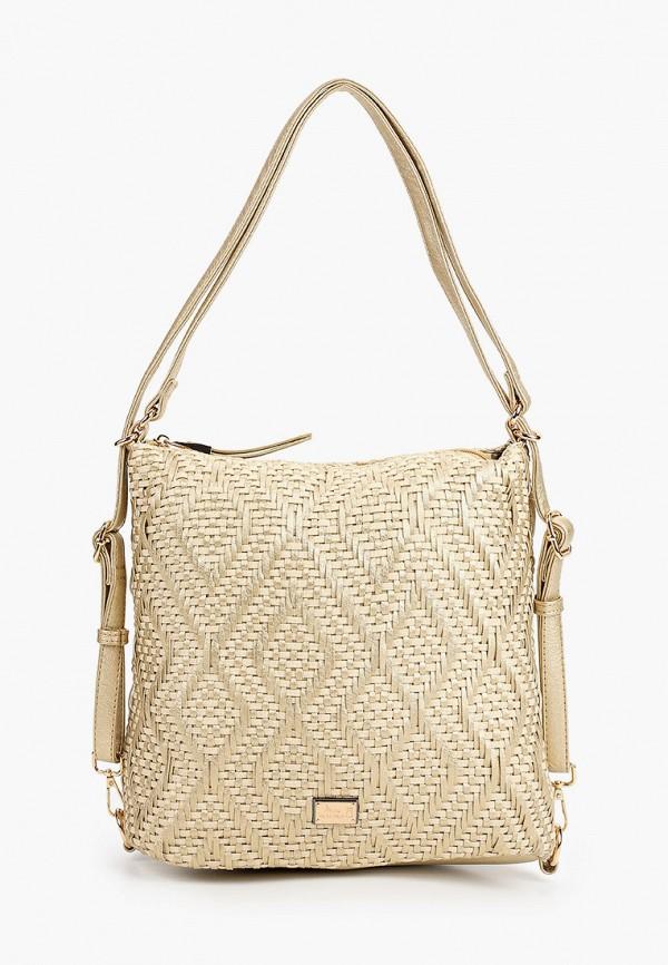 женская сумка nano de la rosa, золотая
