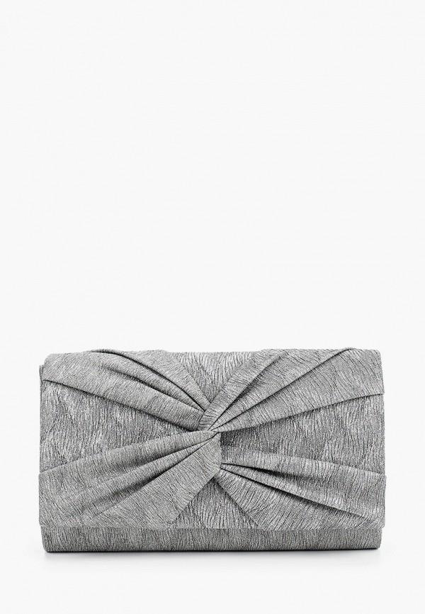 женский клатч nano de la rosa, серый
