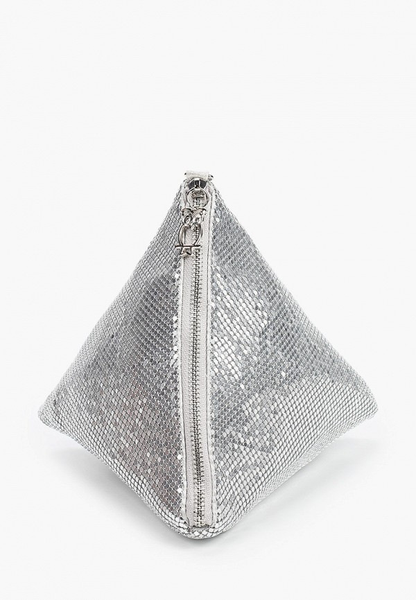 женский клатч nano de la rosa, серебряный