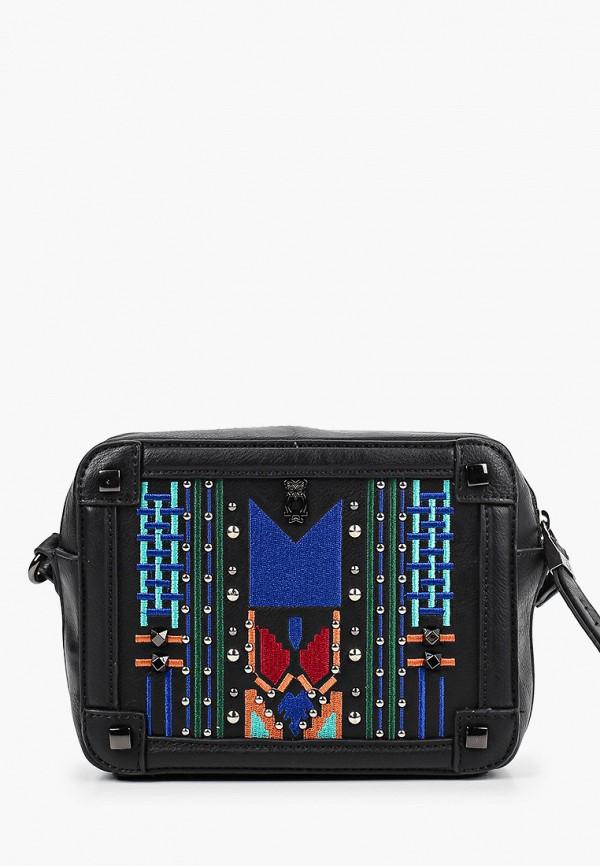 женская сумка через плечо nano de la rosa, черная