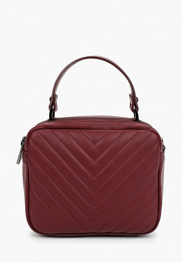 женская сумка nano de la rosa, бордовая