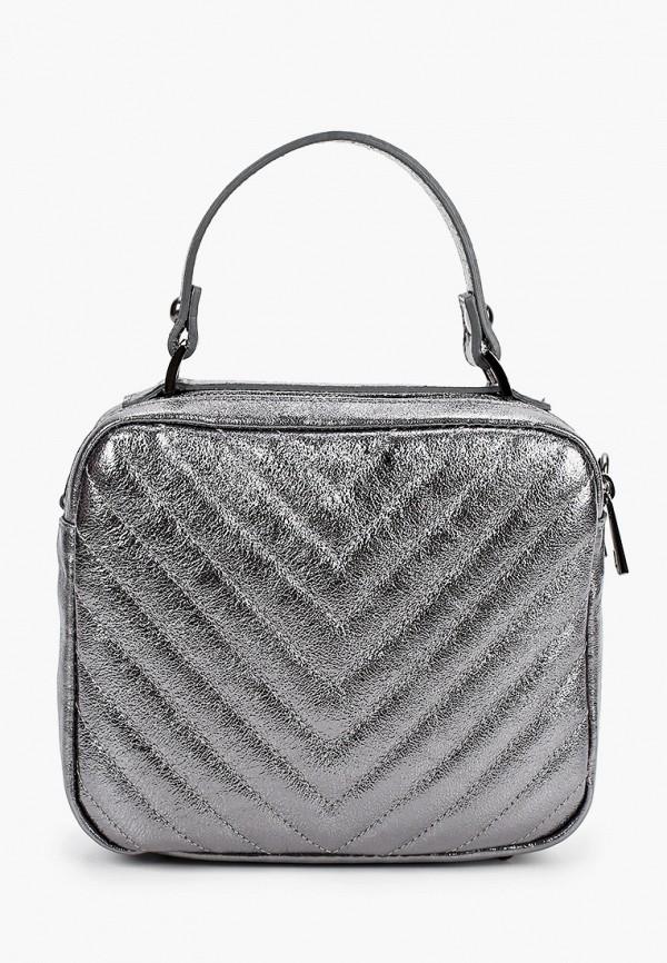 женская сумка nano de la rosa, серебряная