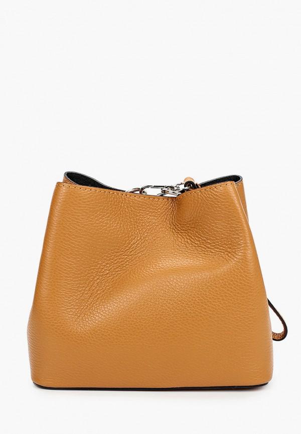женская сумка nano de la rosa, коричневая