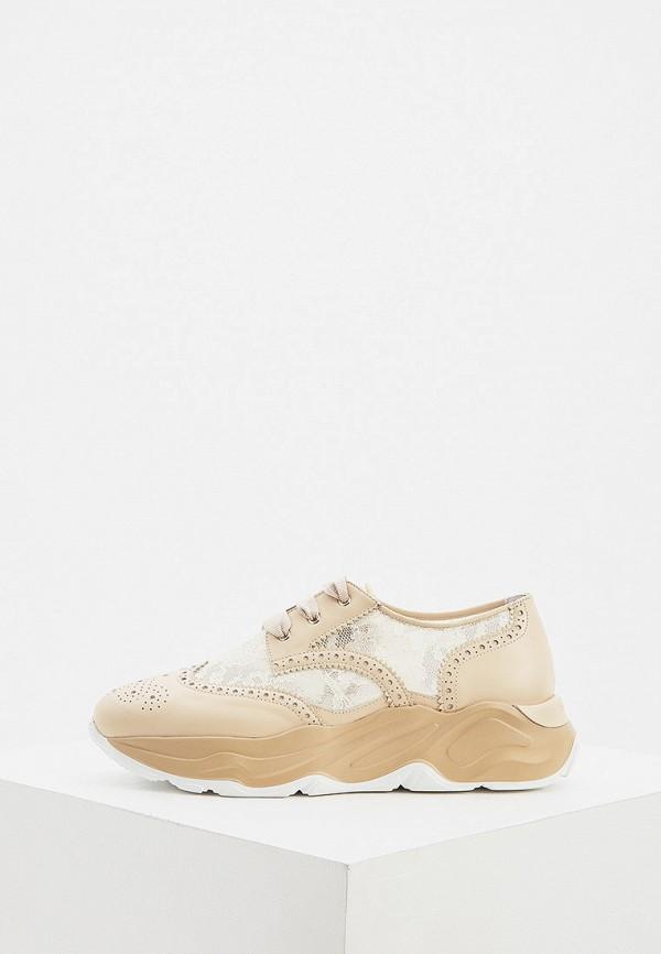 женские низкие кроссовки nando muzi, бежевые