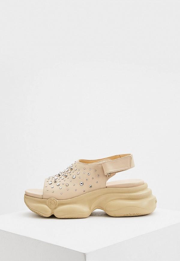 женские сандалии nando muzi, бежевые