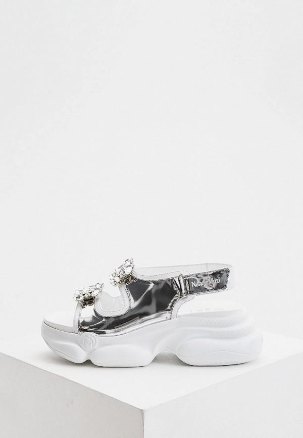 женские сандалии nando muzi, серебряные