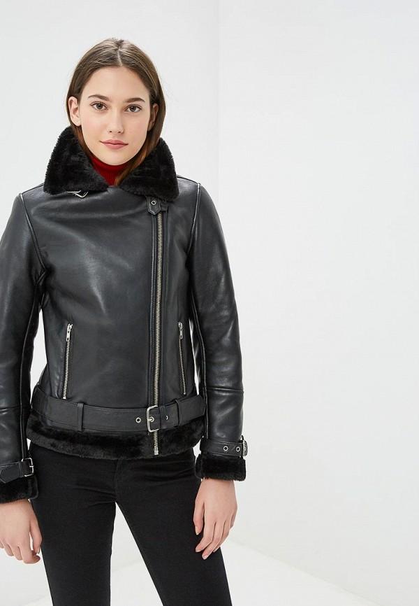 Купить Куртка кожаная Naf Naf, na018ewbtxw0, черный, Осень-зима 2018/2019