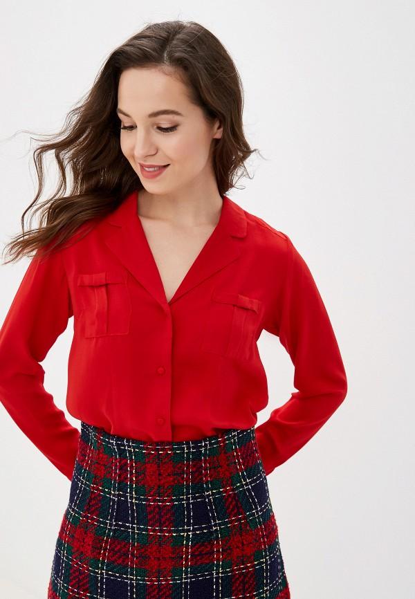 женская блузка naf naf, красная