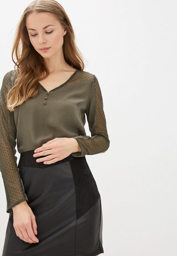 женская блузка naf naf, зеленая