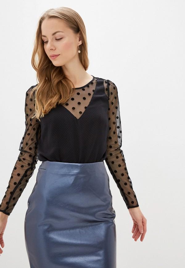 женская блузка naf naf, черная