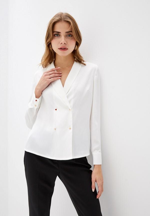 женская блузка naf naf, белая