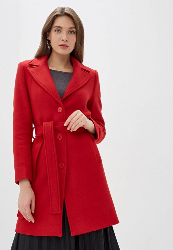 женское пальто naf naf, красное