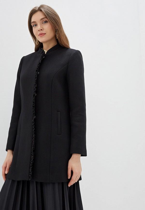 женское пальто naf naf, черное
