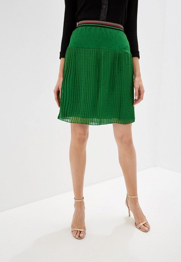 женская юбка naf naf, зеленая