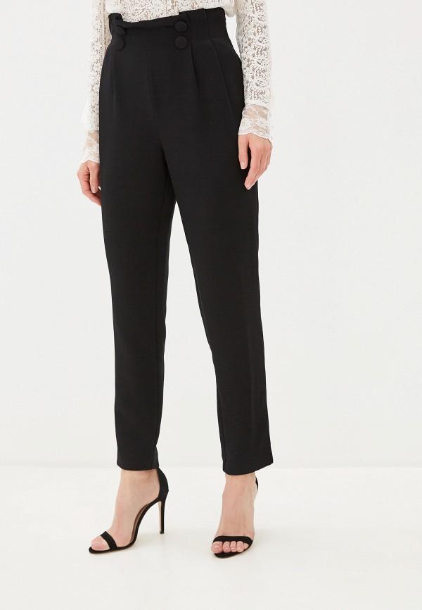 женские повседневные брюки naf naf, черные