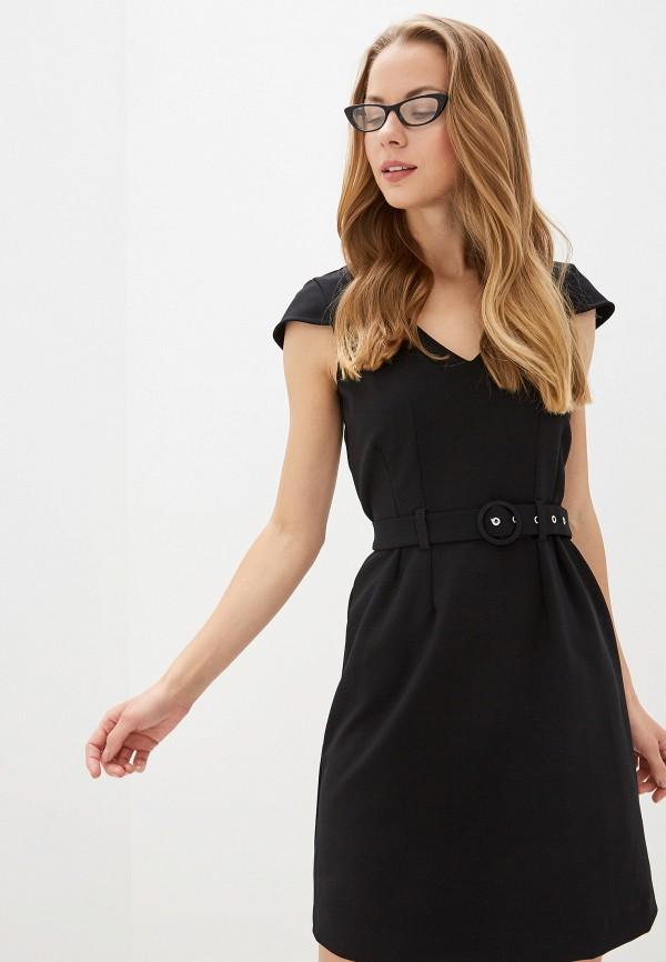 женское повседневные платье naf naf, черное
