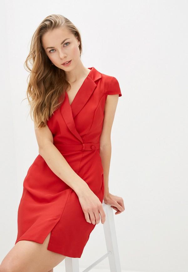 женское платье naf naf, красное