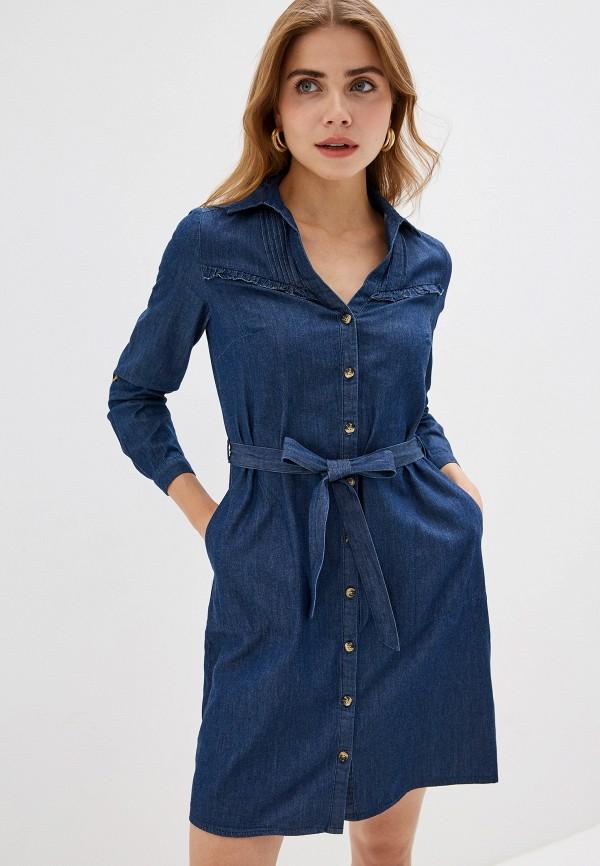 женское платье naf naf, синее