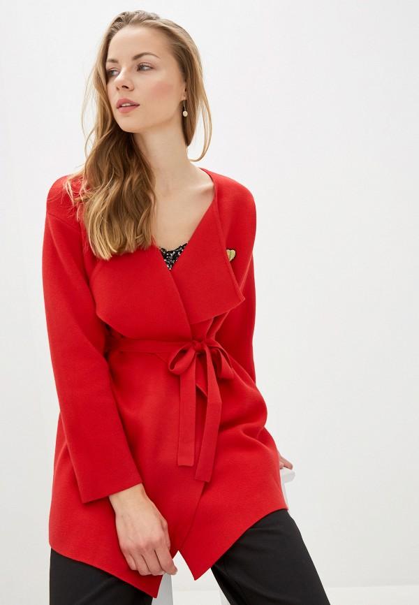 женский кардиган naf naf, красный