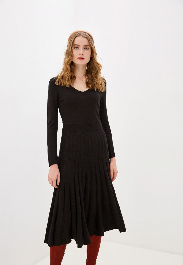 женское платье naf naf, серое