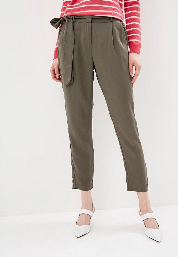 женские повседневные брюки naf naf, зеленые
