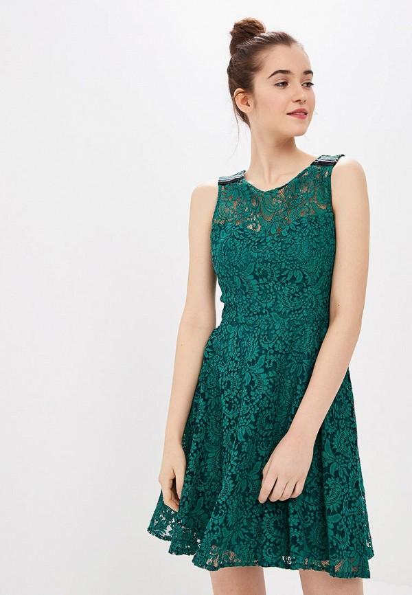 женское вечерние платье naf naf, зеленое