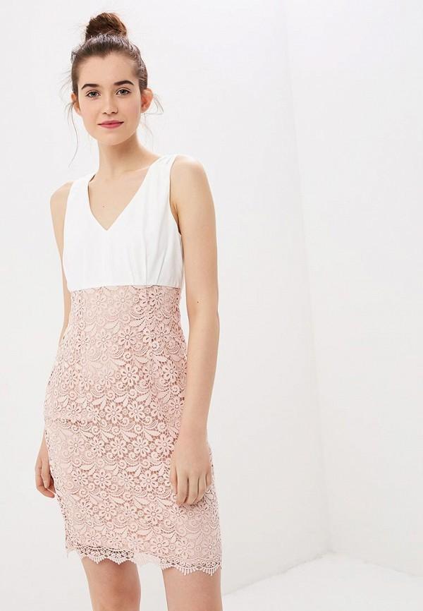 женское платье-футляр naf naf, розовое