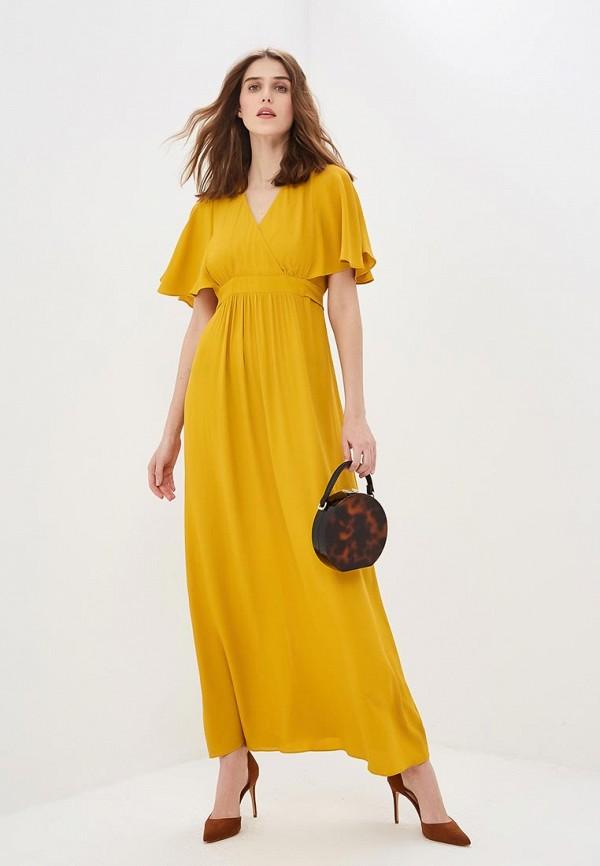 женское повседневные платье naf naf, желтое