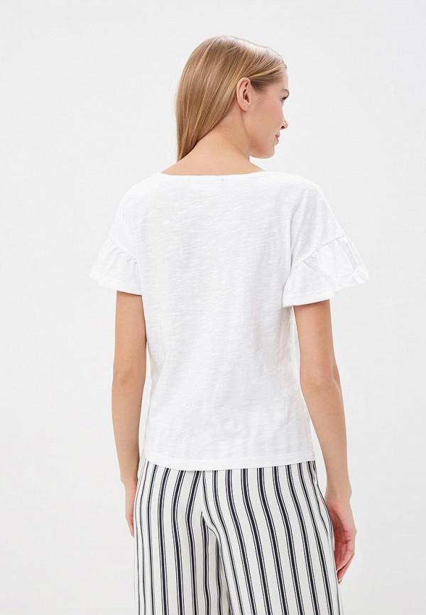 Фото 3 - женскую футболку Naf Naf белого цвета