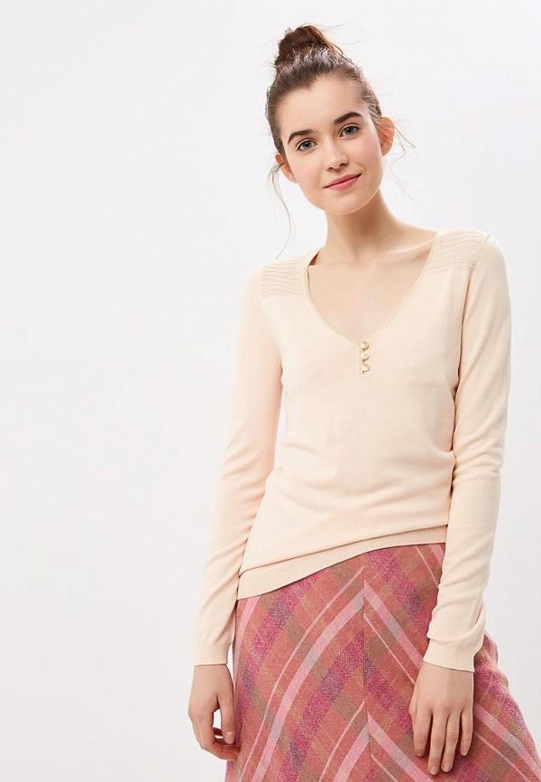 женский пуловер naf naf, розовый