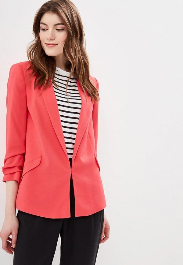 женский пиджак naf naf, розовый