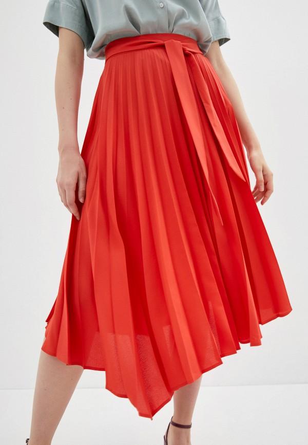 женская юбка naf naf, оранжевая